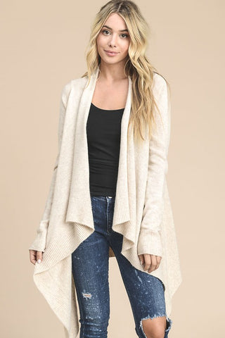 Angora Knit Cardigan (Cream)