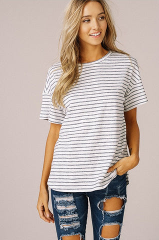 My Favorite Basic Striped T-Shirt (Navy)