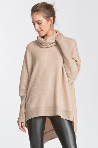 Brushed Knit Boxy Tunic (Taupe)