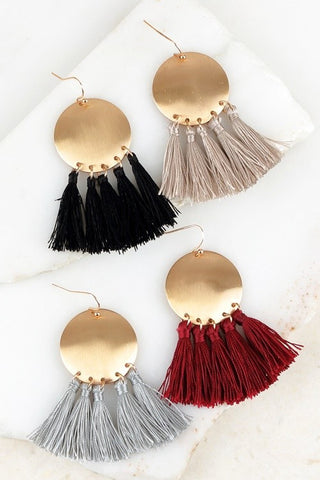 A Perfect Circle Boho Tassel Earrings