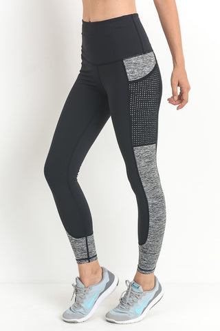 Block It Out Two-Tone Leggings (Black)