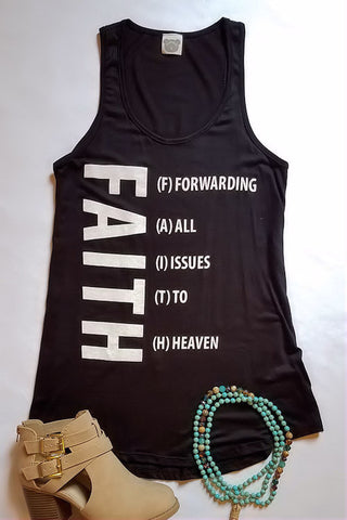 FAITH Graphic Tank Top (Black)