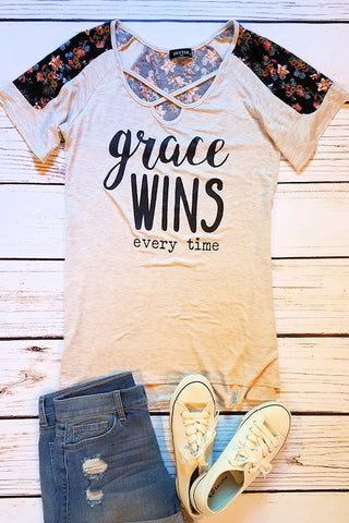 Grace Wins Graphic T-Shirt (Oatmeal)