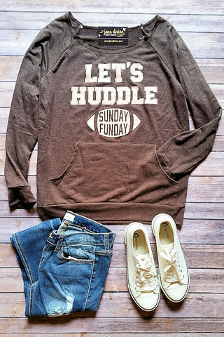 Lets Huddle Gameday Graphic Pullover