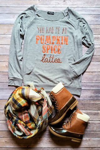 Pumpkin Spice Lattes Graphic Pullover