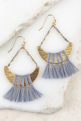 Over the Moon Boho Tassel Earrings