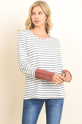 Plaid to Meet You Striped Top