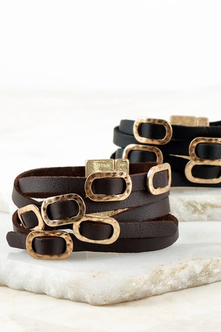 Strapped to You Leather Bracelet