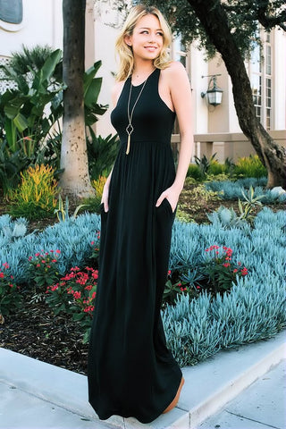 Unforgotten Maxi Dress (Black)