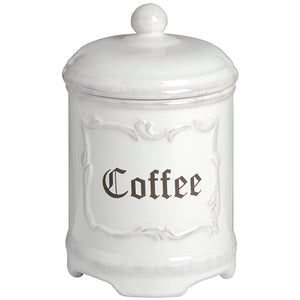 Stone White Coffee Canister