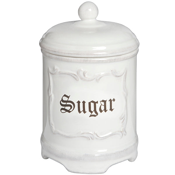 Stone White Sugar Canister