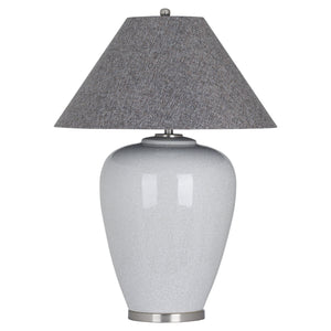 Large Grey Crackle Lamp