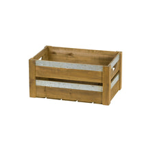 Load image into Gallery viewer, Three Wooden Storage Crates With Metal Detail