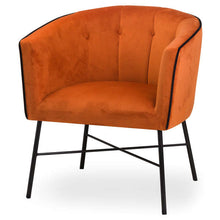 Load image into Gallery viewer, Burnt Orange Velvet Tub Chair