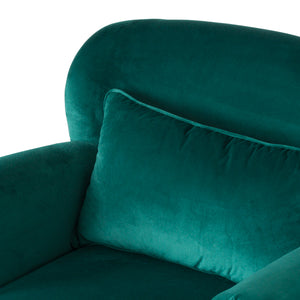 Emerald Low Back Studded Chair
