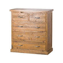 Load image into Gallery viewer, Solid Pine Five Drawer Chest Of Drawers