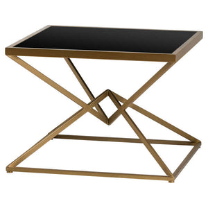 Bronze and Black Abstract Side Table
