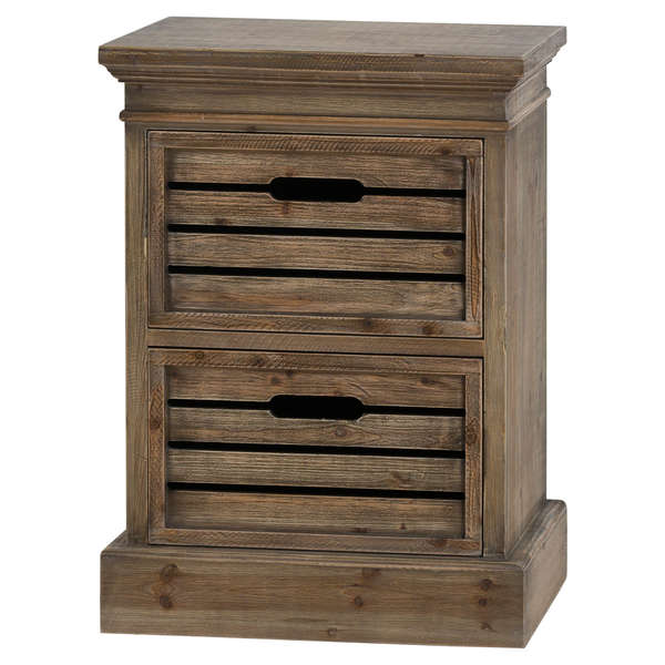 Distressed Pine Two Drawer Chest