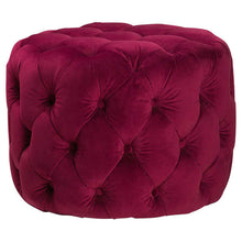 Load image into Gallery viewer, Claret Velvet footstool