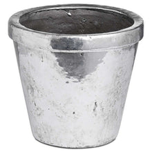 Load image into Gallery viewer, Silver Ceramic Rimmed Plant Pot