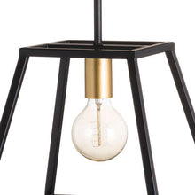 Load image into Gallery viewer, Black and Brass Pendant Light