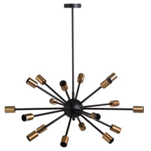 Load image into Gallery viewer, Large Black and Brass modern Light
