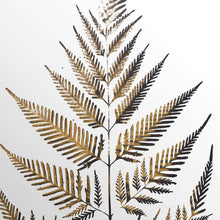 Load image into Gallery viewer, Large Leaf Brass Wall Art