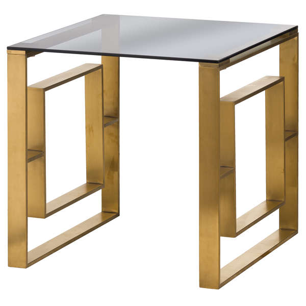 Side Table in Brushed Brass
