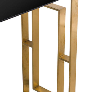 Console Table in Brushed Brass