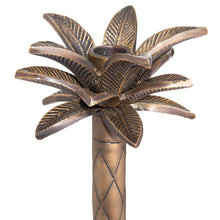 Load image into Gallery viewer, Large Brass Palm Tree Candle Holder