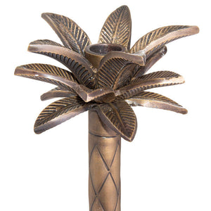 Large Brass Palm Tree Candle Holder