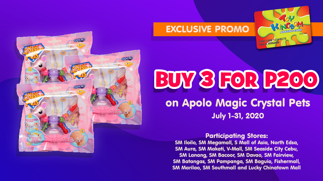 Buy 3 for P200 on Apolo Magic Crystal Pets
