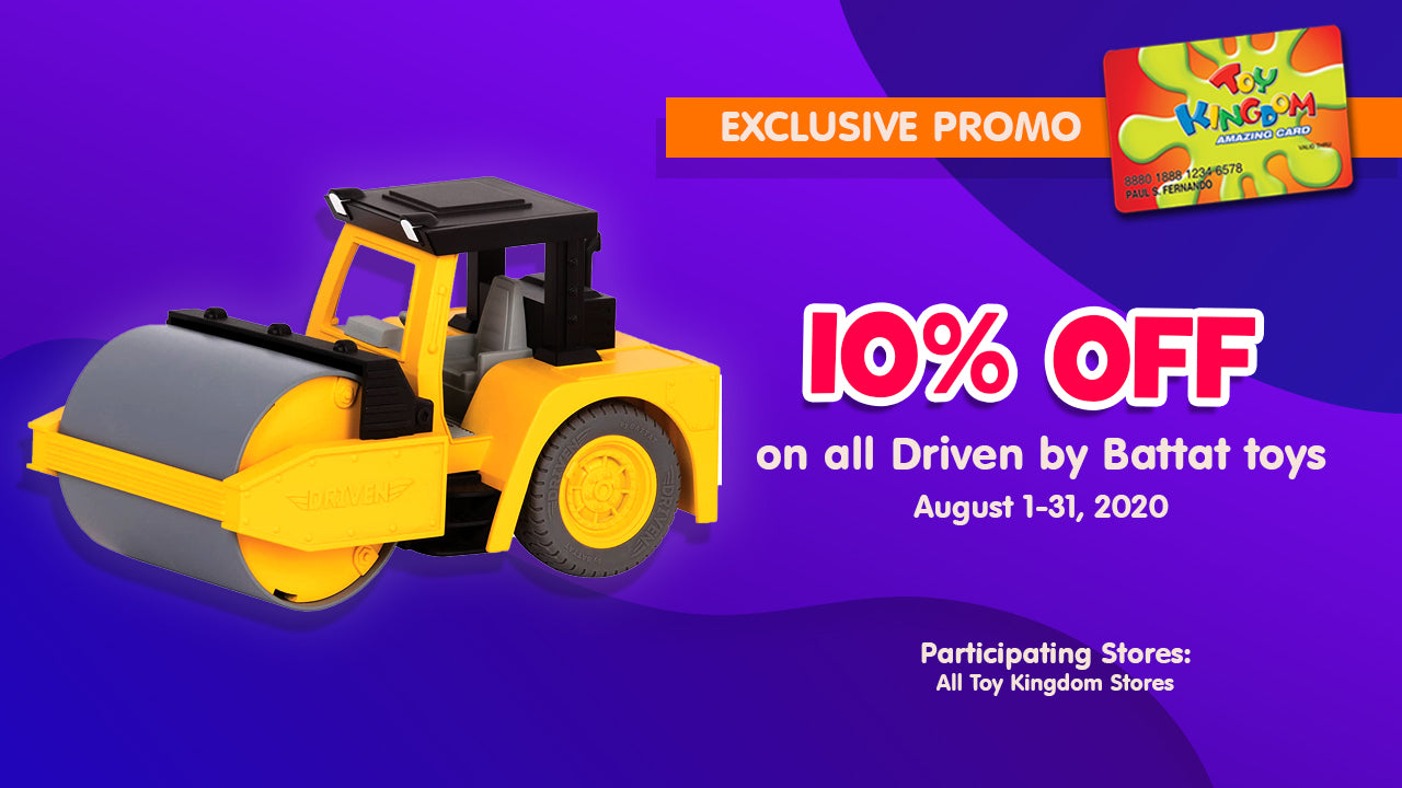 10% off off on all Driven by Battat toys