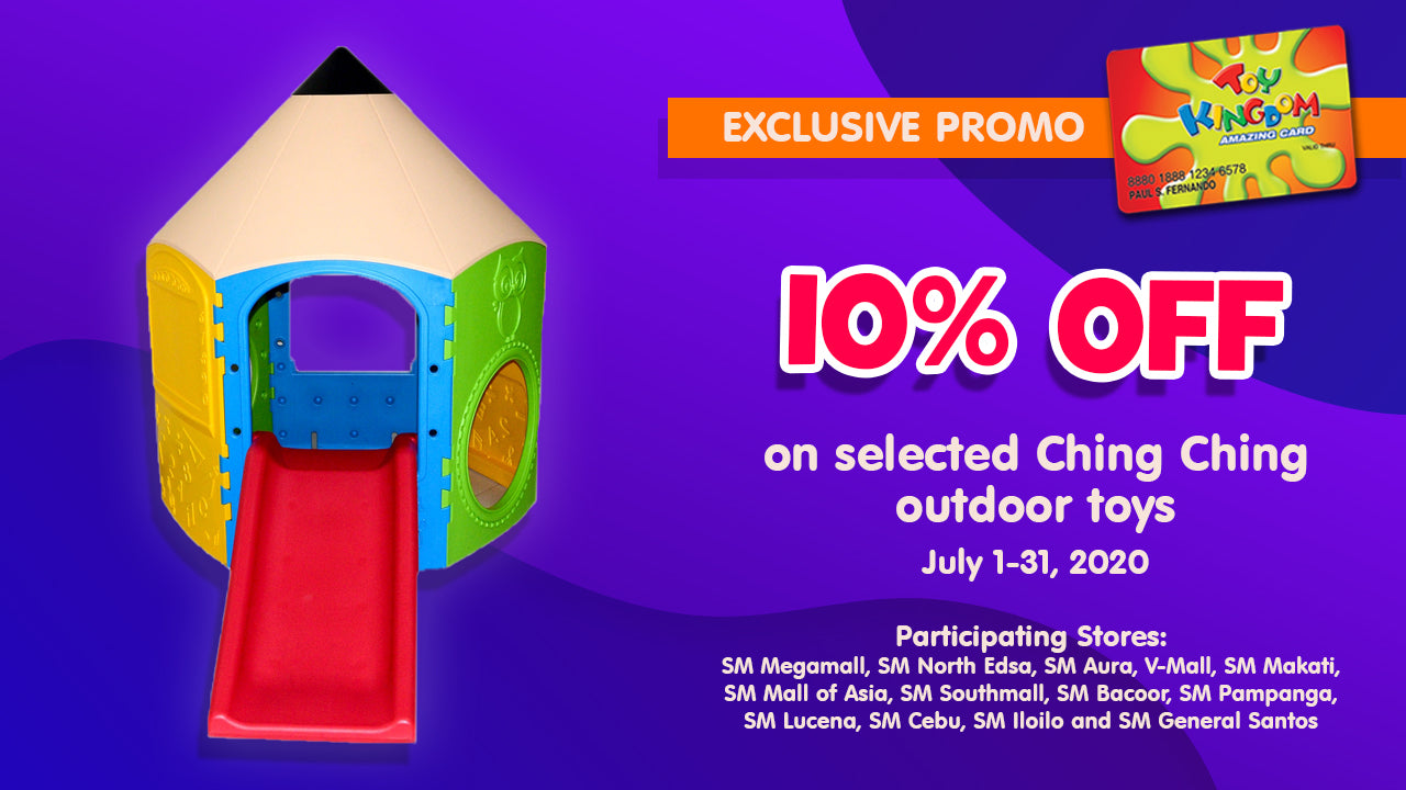 10% off on selected Ching Ching outdoor toys