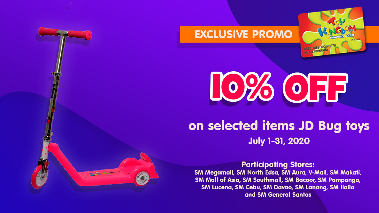 10% off on selected items JD Bug toys