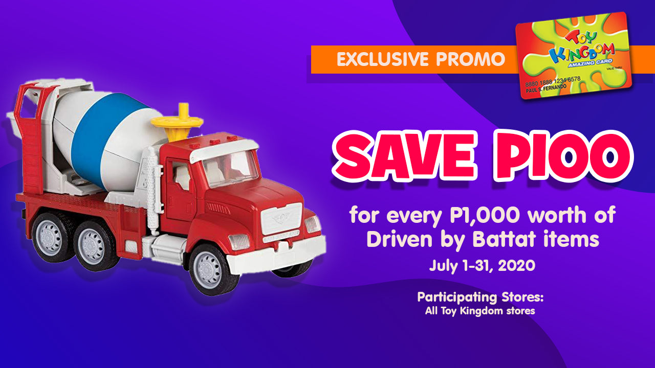 SAVE P100 for every P1,000 worth of Driven by Battat items