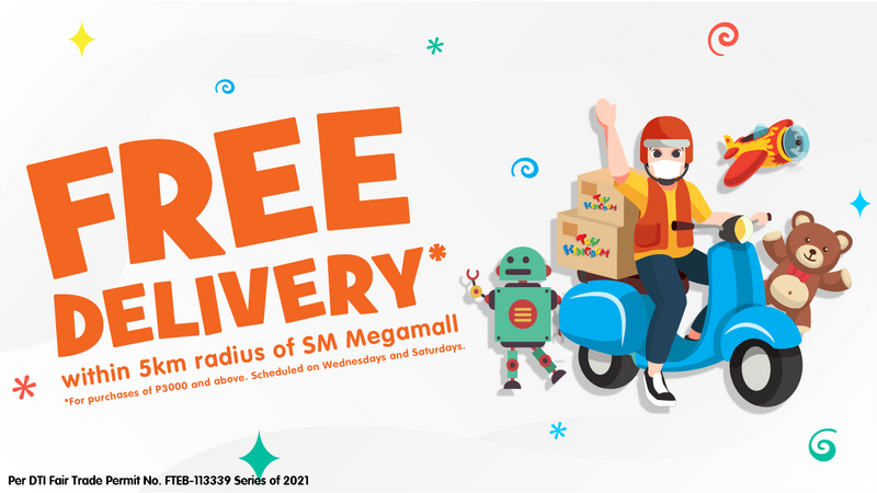Free Delivery at Toy Kingdom