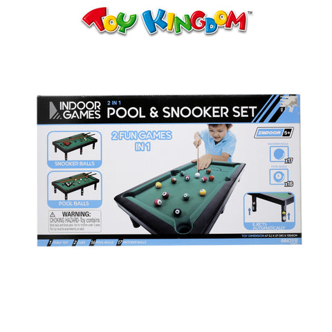 Innov8 Sports 2-in-1 Billiards Pool and Snooker Tabletop Game Set for Kids