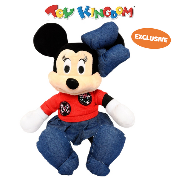 Disney Minnie Mouse 14-Inch Minnie Mouse with Red Shirt and Skirt Plush Toy