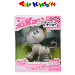 Kika Smart Tap Meowing Gray Kitty Collectible Figure Toy for Kids