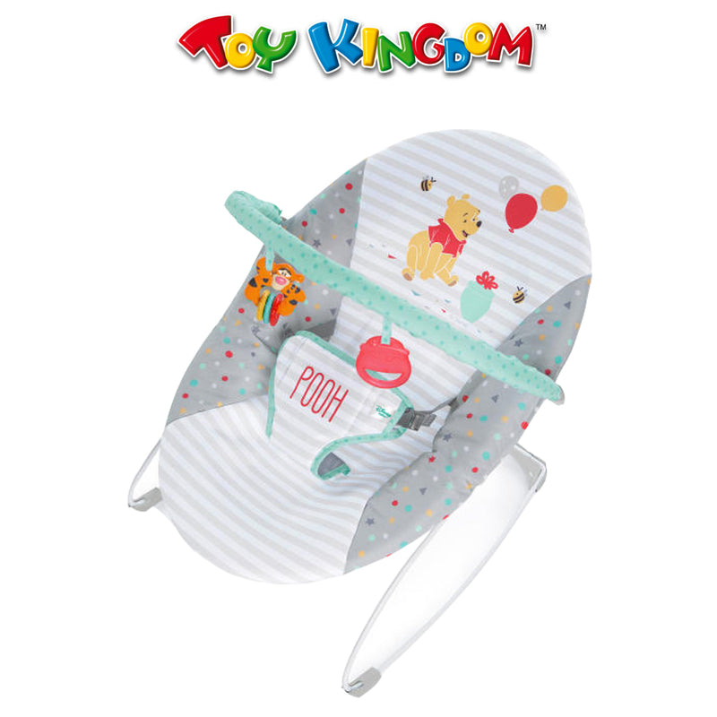 Bright Starts Disney Baby Winnie the Pooh Happy Hoopla Vibrating Bouncer for Babies