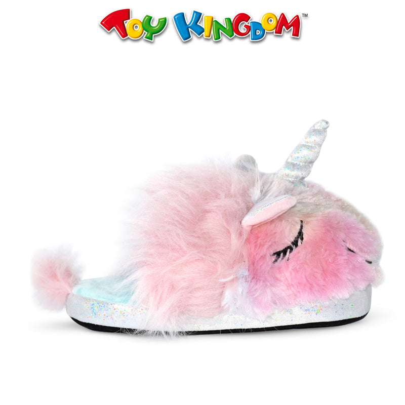 Juansie Manila Unicorn Plush Slippers For Kids (Rainbow) 7 Inches
