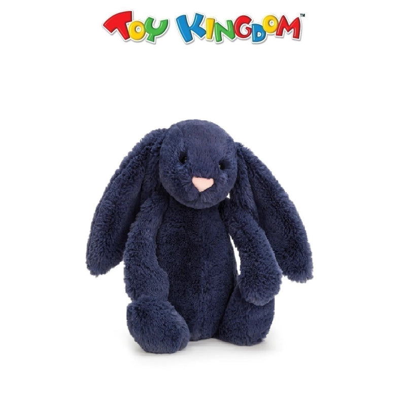 "Jellycat 12"" Bashful Bunny Plush (Navy Blue)"