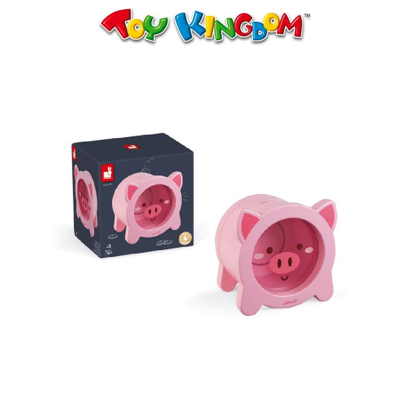 Janod Wooden Piggy Money Box For Kids