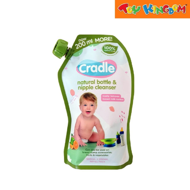 Cradle Natural Bottle and Nipple Cleaner 700ml Refill Pack