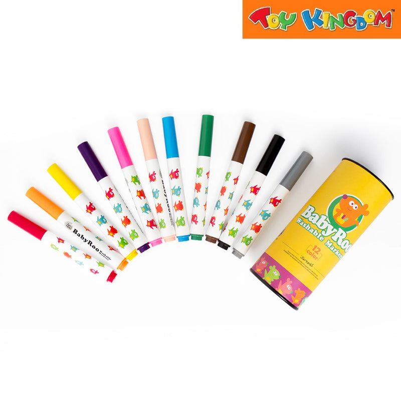 Joan Miro Washable Markers -Baby Roo 12 Colors