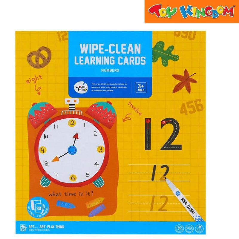Joan Miro Wipe-clean learning cards—Numbers