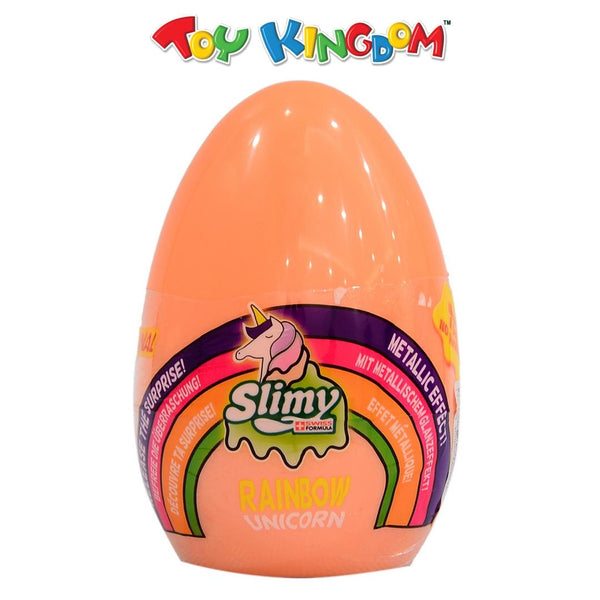 Slimy Rainbow Unicorn Orange Slime Toy for Kids