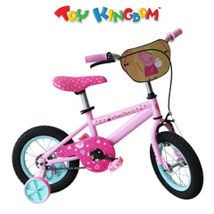 Peppa Pig 12-inch Pink Bike with Training Wheels for Girls