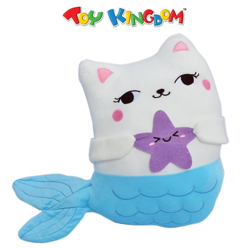13-inch Mermaid Cat Blue Tail Plush for Kids
